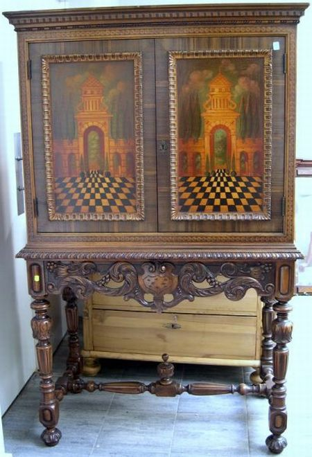 Berkey Amp Gay Furniture Jacobean Style Inlaid And Paint