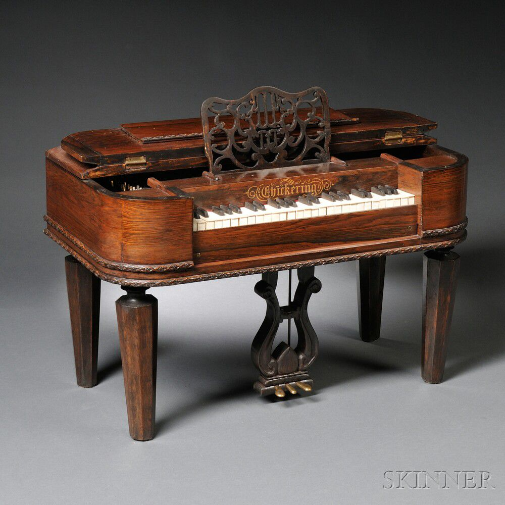 Miniature Chickering Rosewood Square Grand Piano Salesman