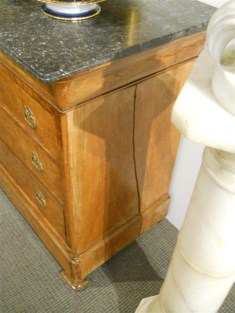 Charles X Burlwood And Granite Top Chest