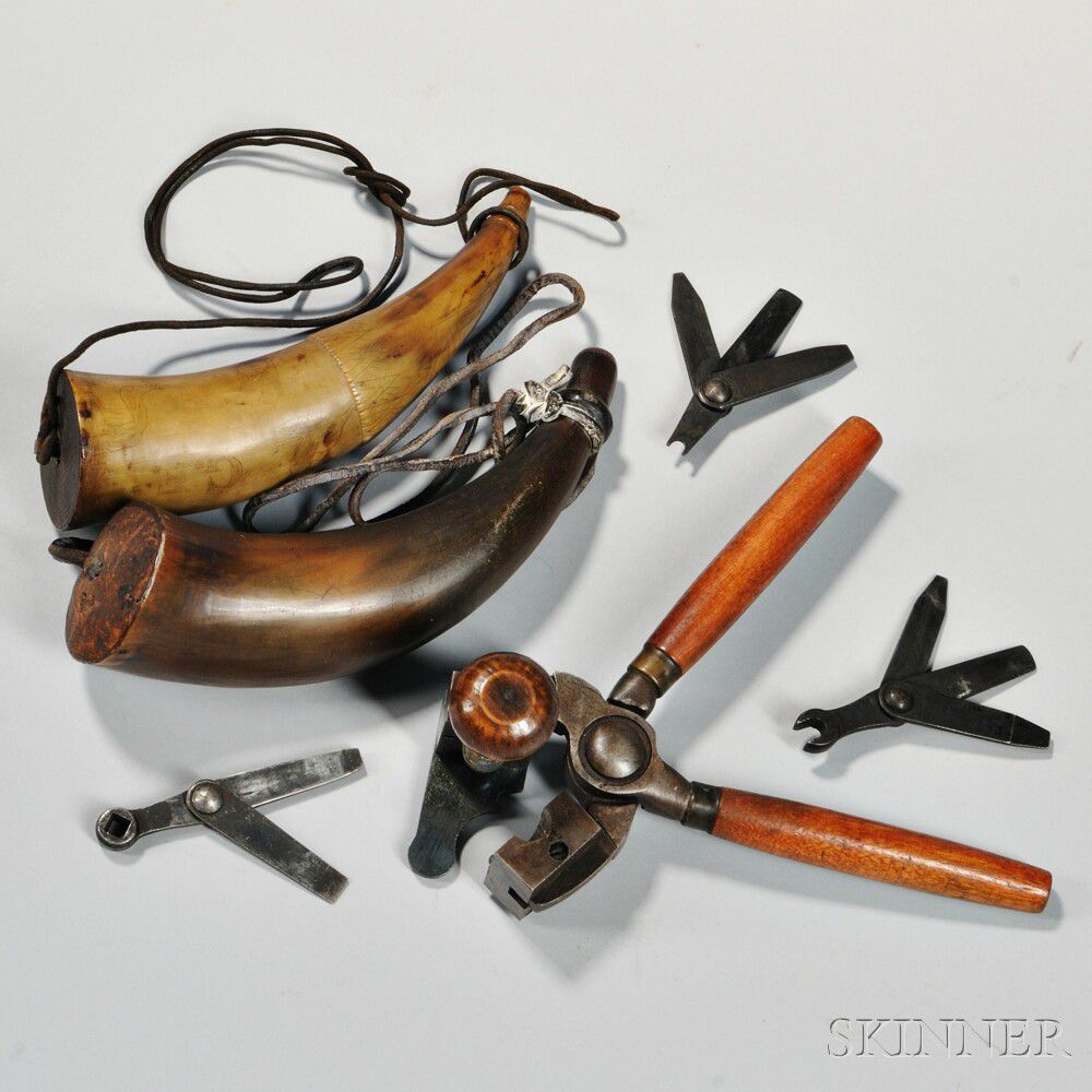 Powder Horns, Bullet Mold, and Musket Tools | Sale Number