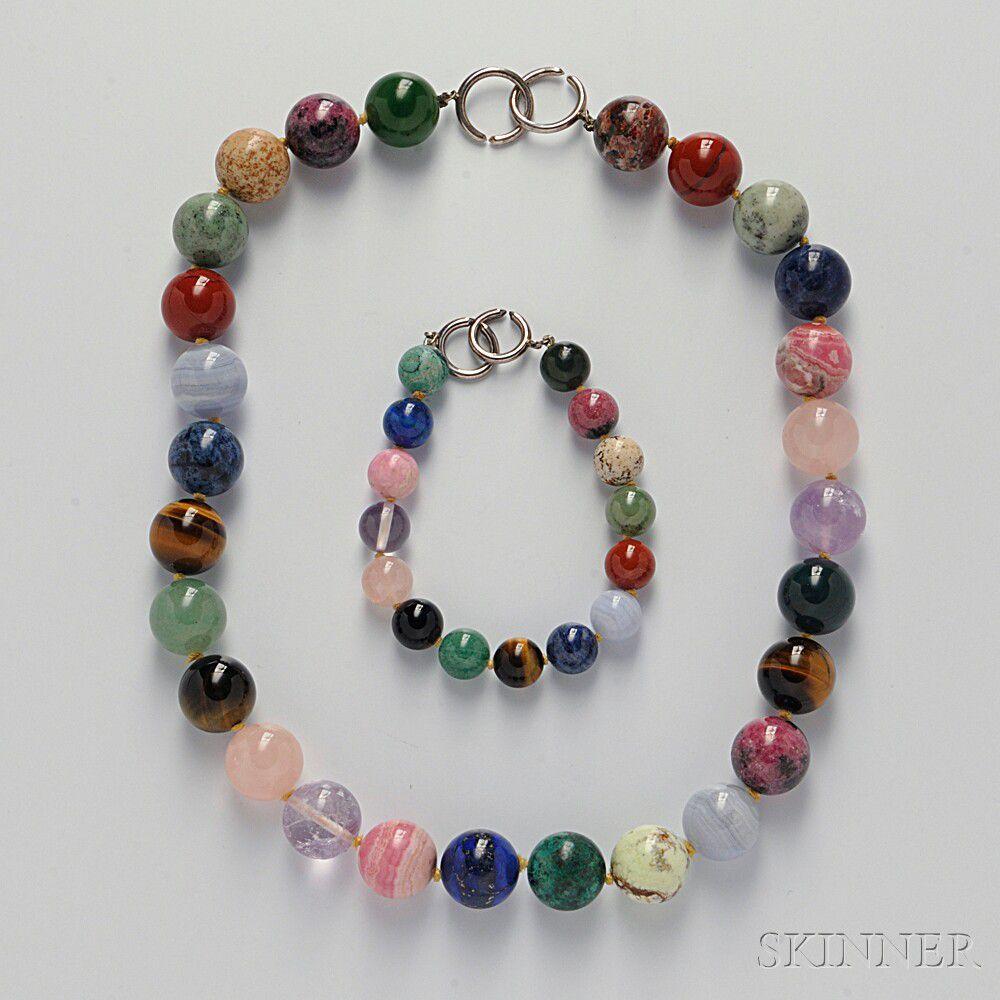 caf44ebd4 Hardstone Bead Necklace and Bracelet, Paloma Picasso, Tiffany & Co ...