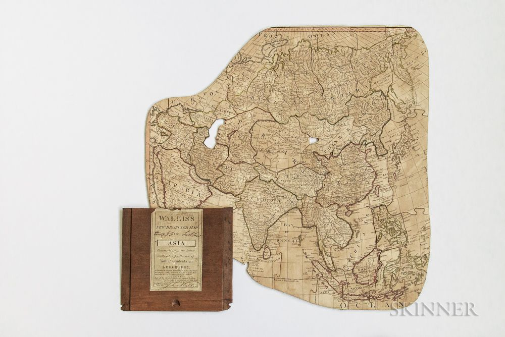 Map Of Asia For Students.Wallis S New Dissected Map Of Asia Engraved From The Latest