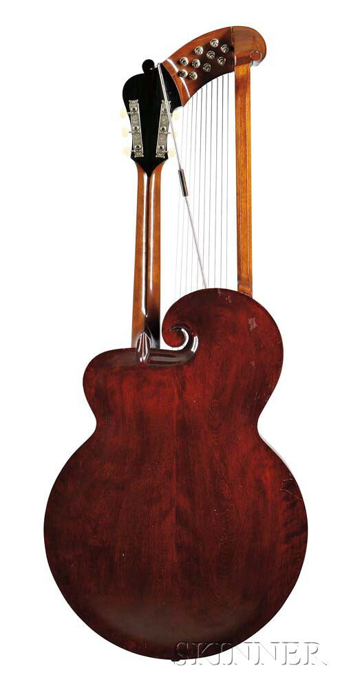 gibson style u harp guitar 1908 sale number 2955b lot number 560 skinner auctioneers. Black Bedroom Furniture Sets. Home Design Ideas