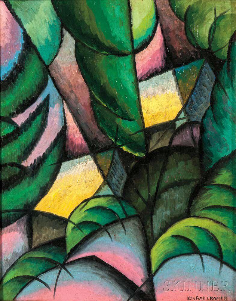 Attributed to Konrad Cramer (American/German, 1888-1963) Cubist