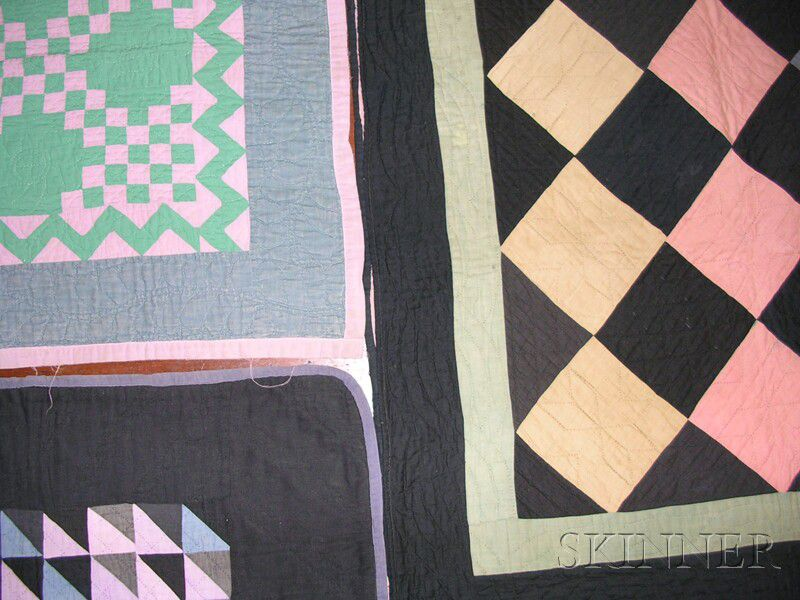 Three Small Amish Quilts Sale Number 2585b Lot Number