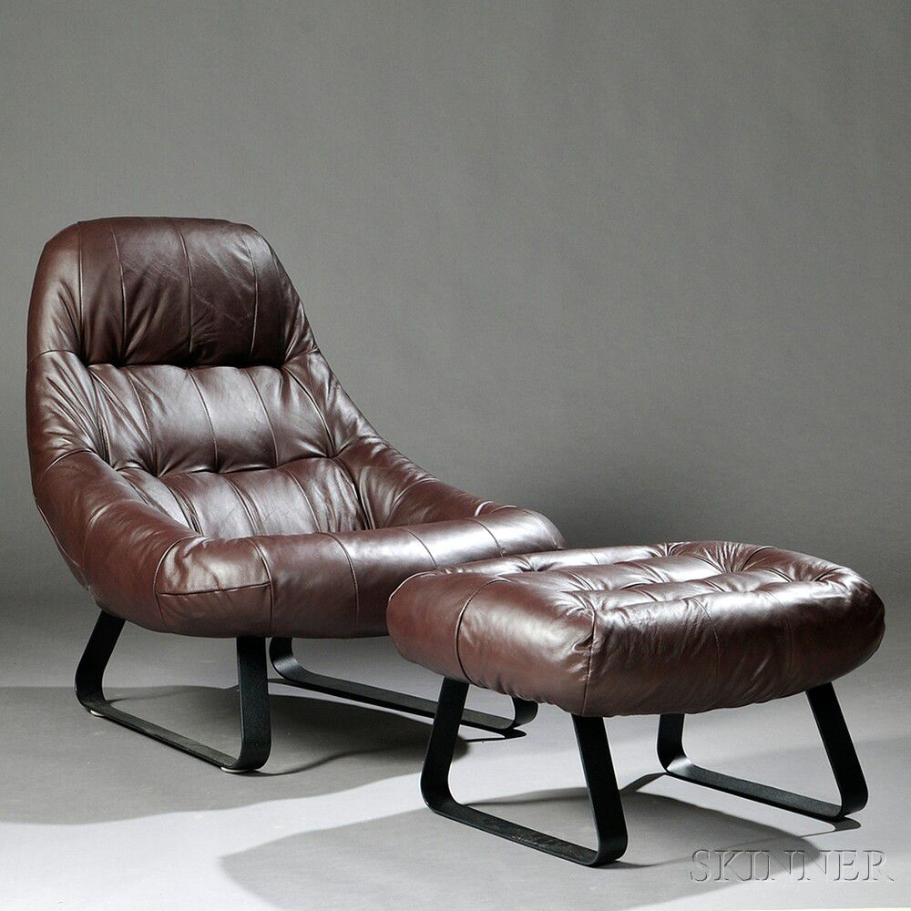 Beau Earth Chair And Ottoman Attributed To Percival Lafer