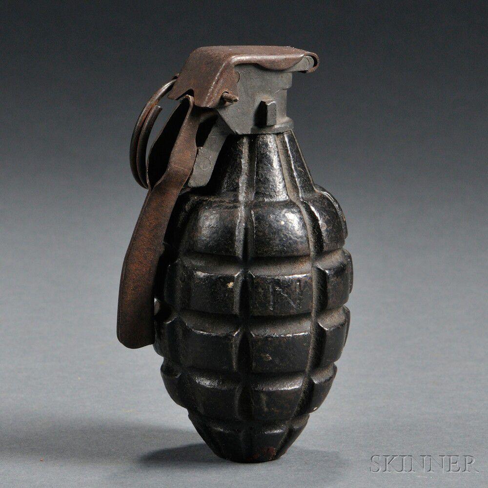 Inert U S  Mark I Fragmentation Grenade | Sale Number 2708T