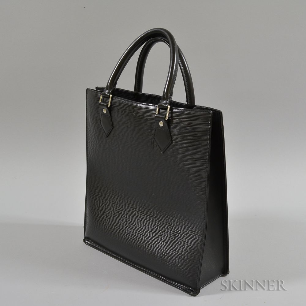 5de66761e4a9 Louis Vuitton Black Leather Epi Plat Sac PM Tote Bag. Auction  3013T  Lot   ...