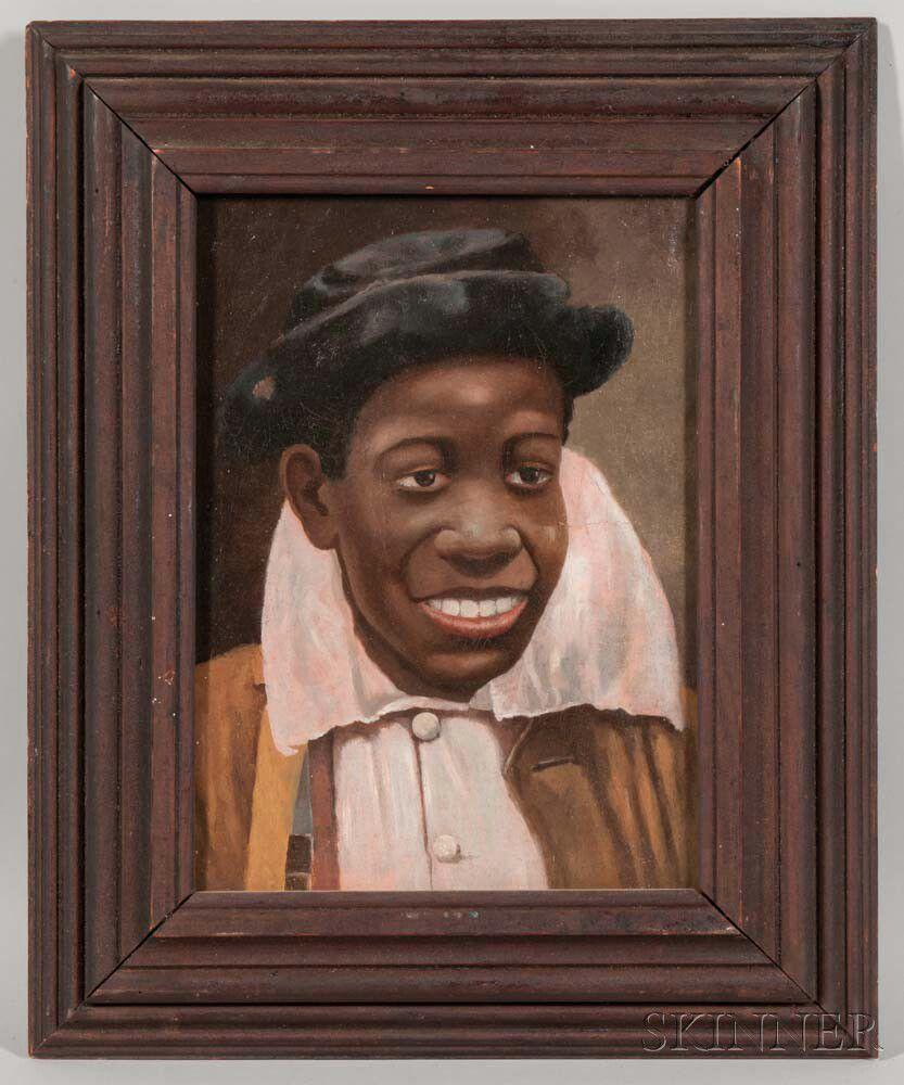 American School, 19th/20th Century Portrait Of A Boy