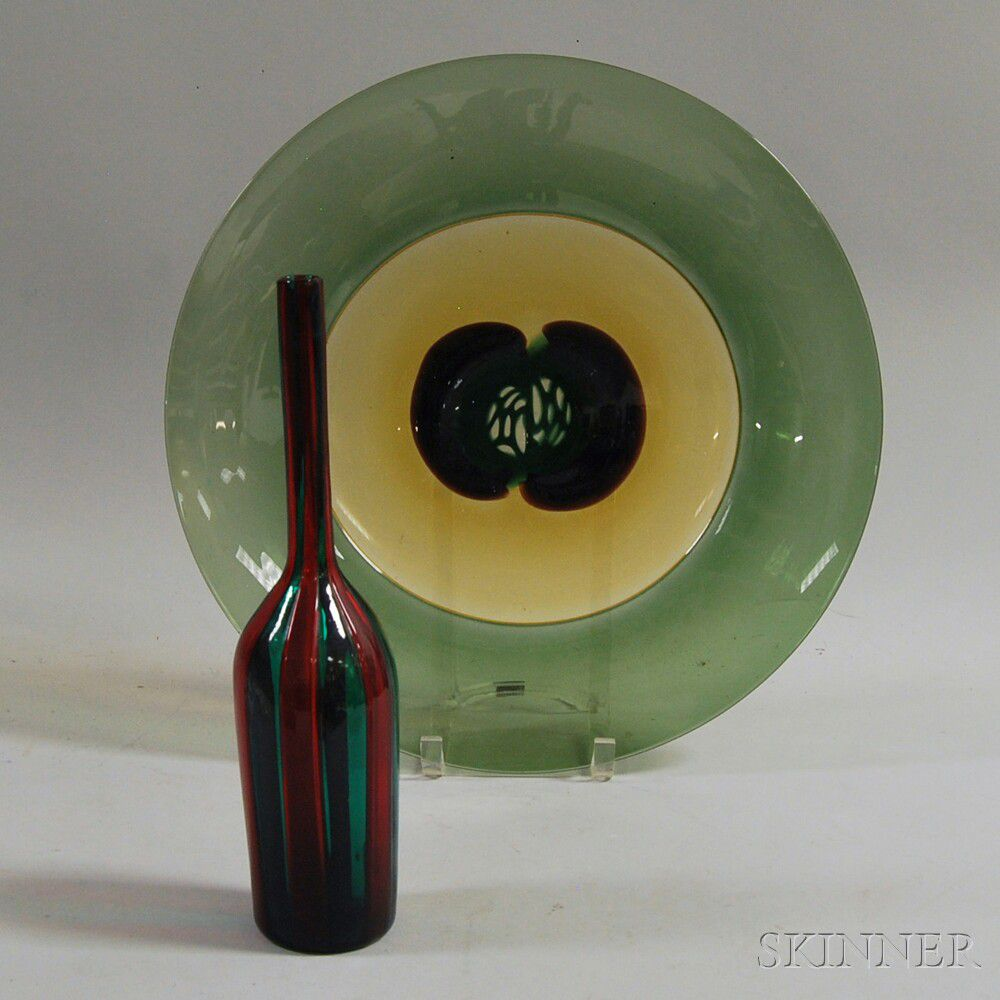Two Pieces Of Venini Decorative Murano Glass Sale Number 2741m