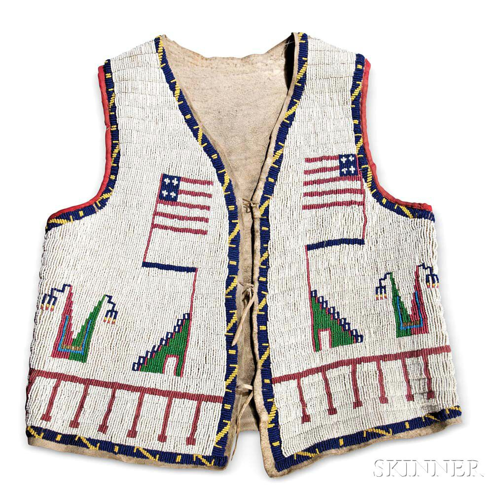 Lakota Beaded Hide Pictorial Vest | Sale Number 2983B, Lot