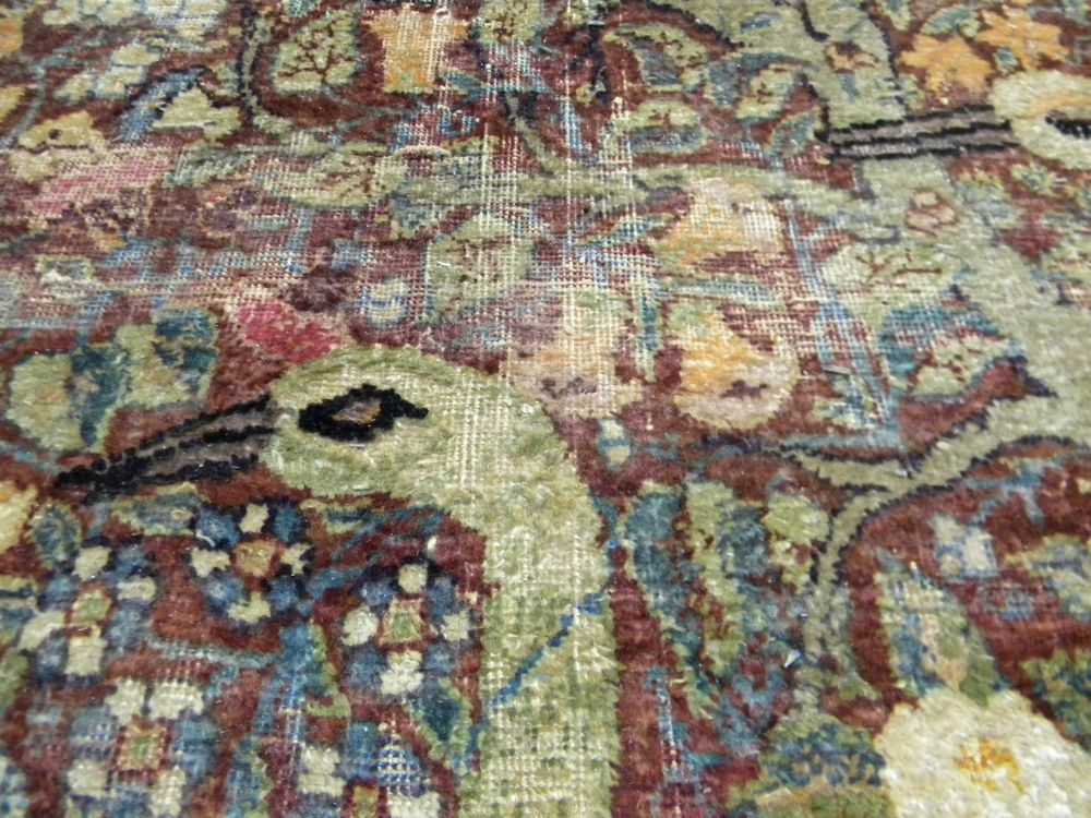 Southeast Persian Pictorial Silk Rug Sale Number 2884b
