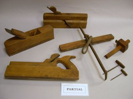 Eleven 19th Century Wooden and Iron Molding Hand Planes, a