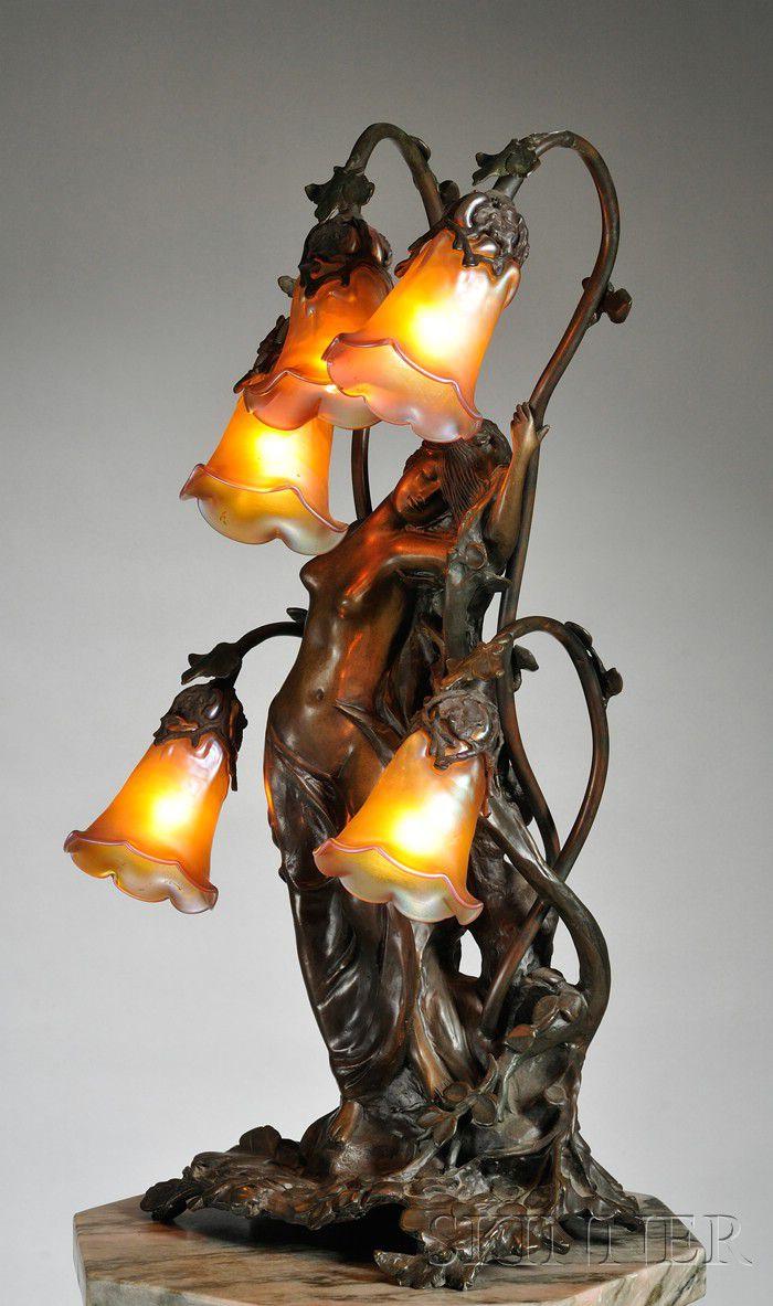 Gustav Gurschner 1873 1971 Art Nouveau Table Lamp Sale Number