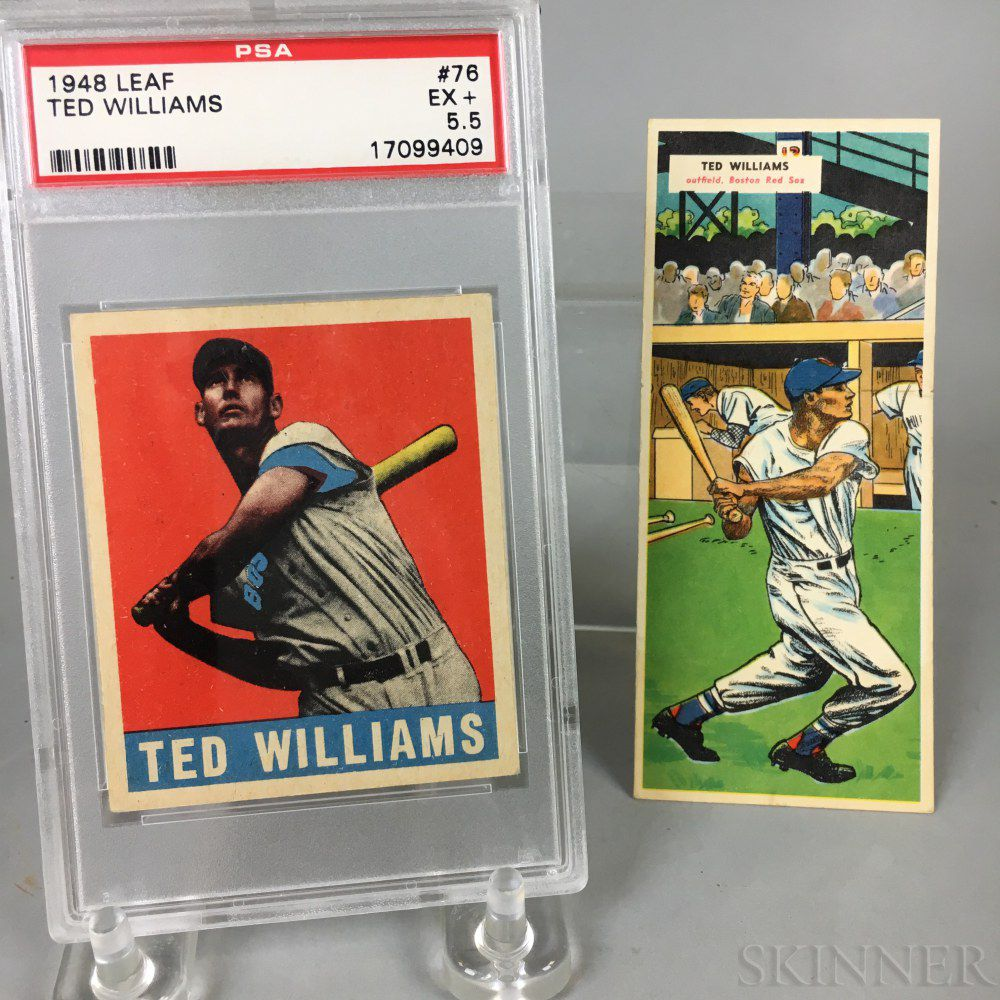1948 Leaf All Star Baseball Gum 76 Ted Williams Baseball