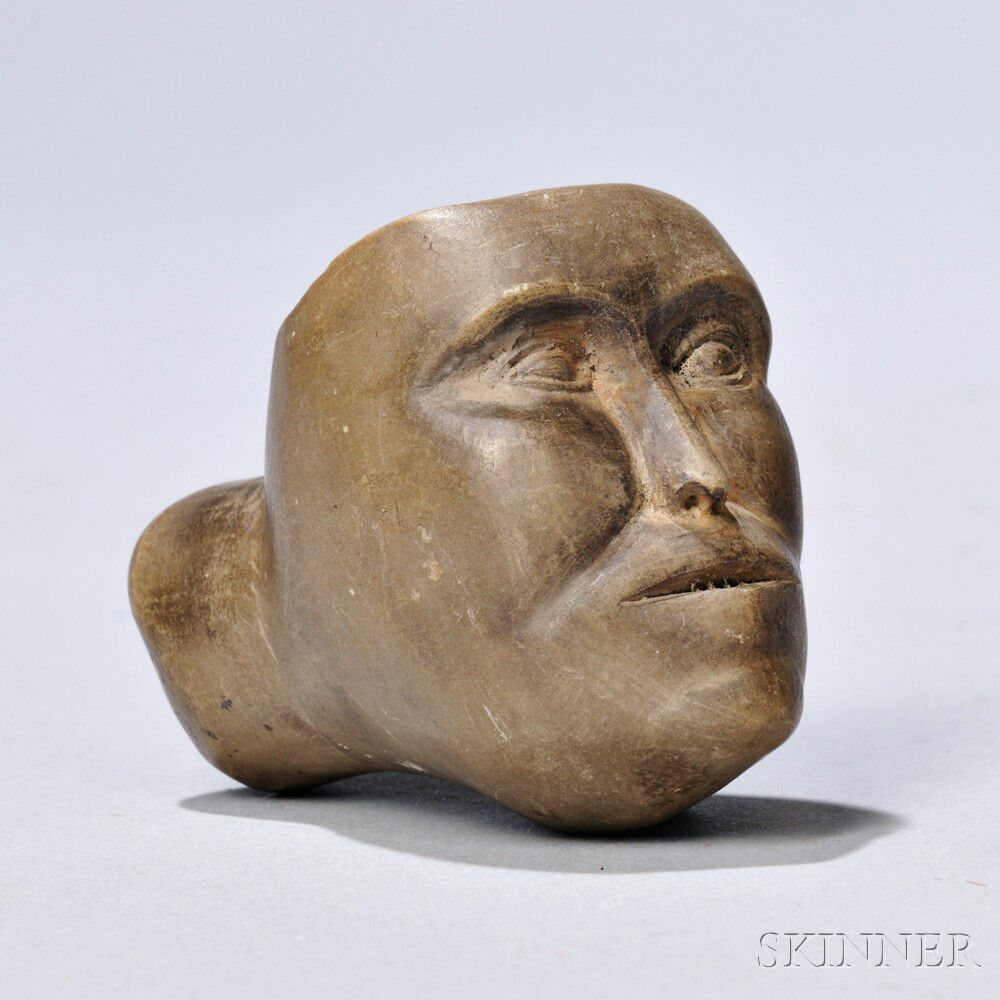 Great Lakes Granite Marble: Great Lakes Carved Stone Face Pipe