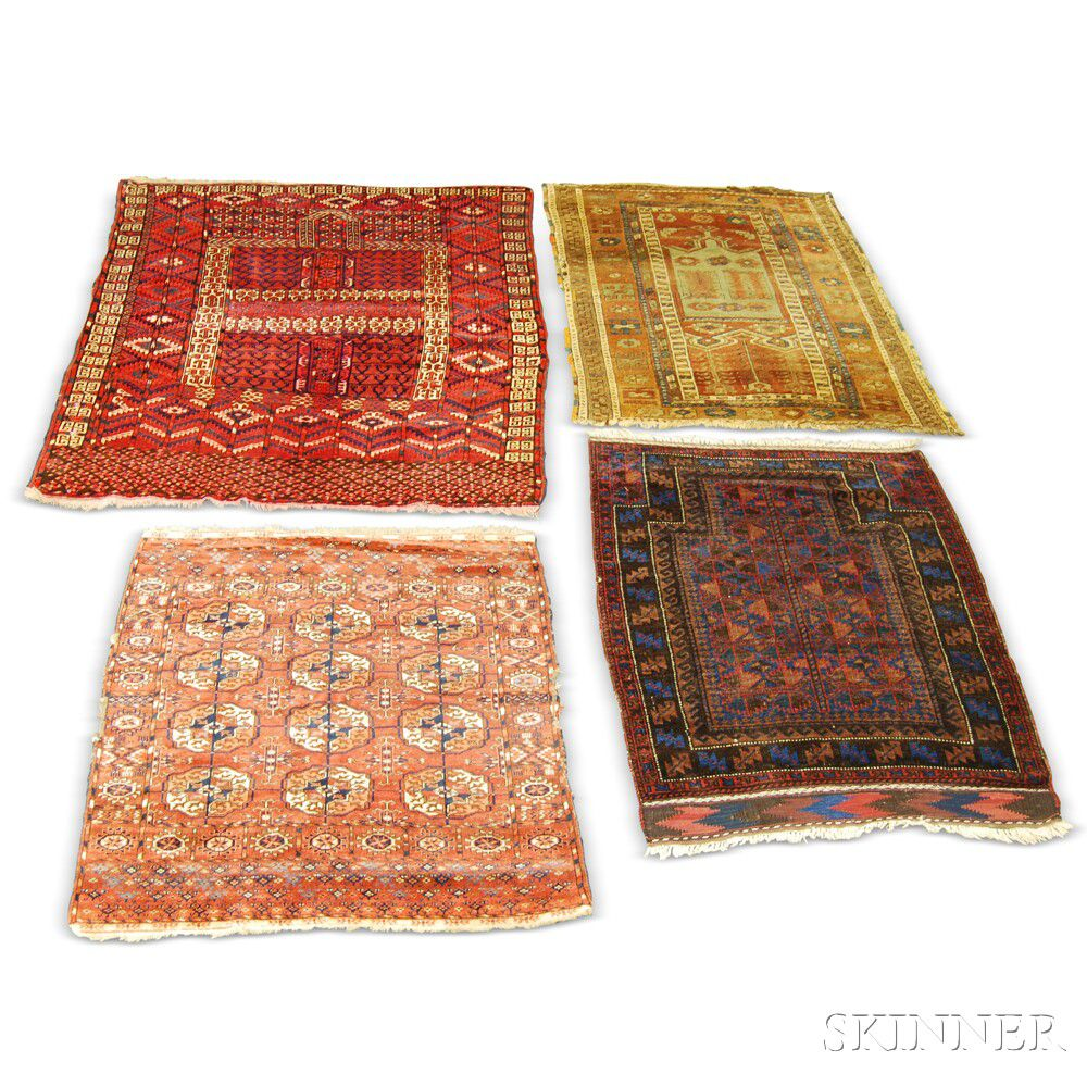 Two Turkoman Rugs, A Baluch Prayer Rug, And A Turkish