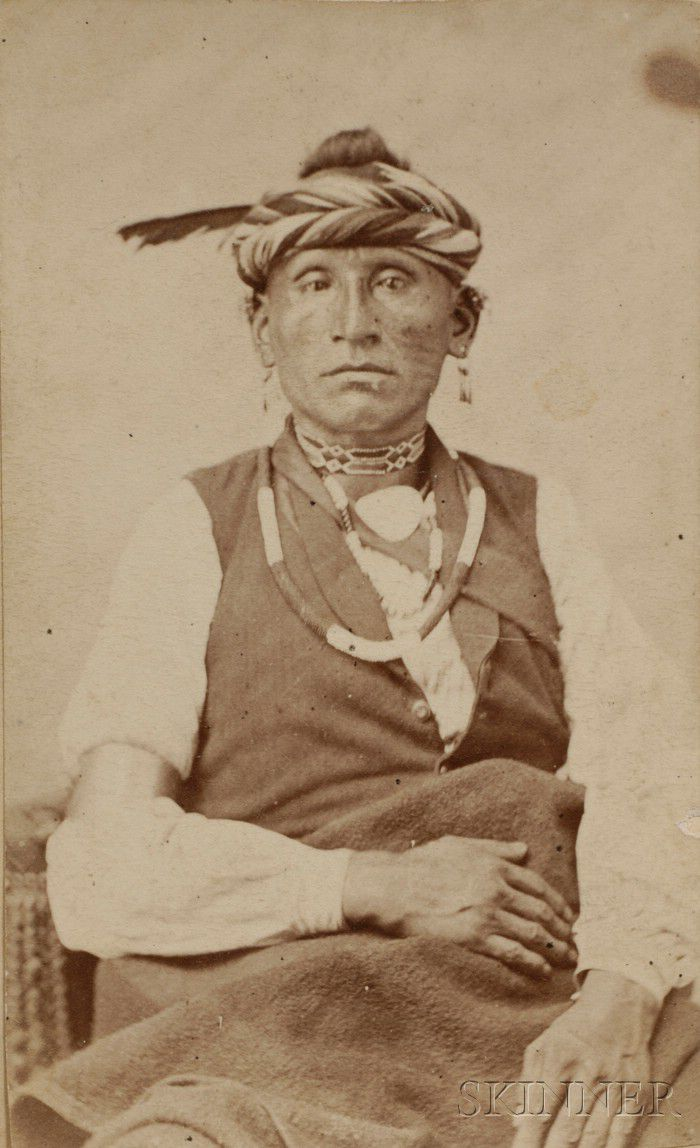 Carte De Visite Of An Osage Indian