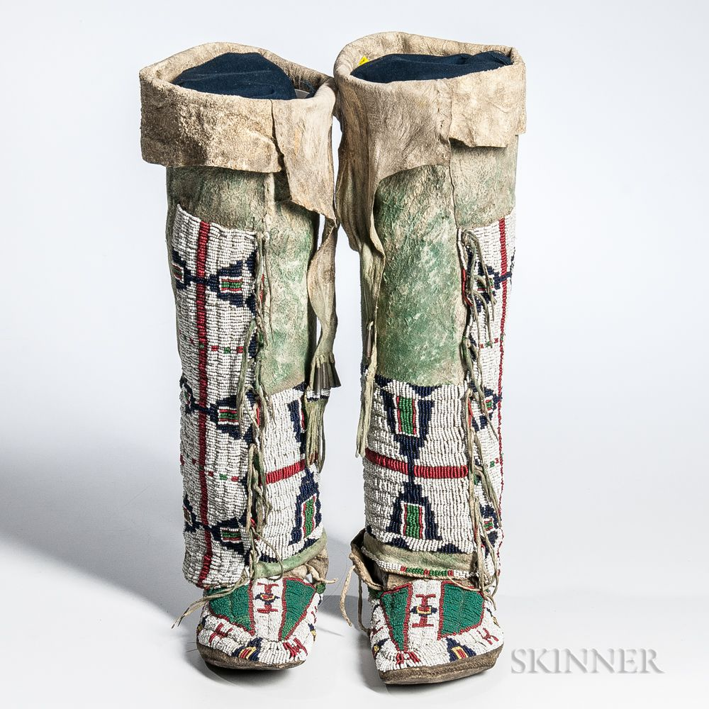 Western Sioux Woman S Moccasins And Leggings Sale Number