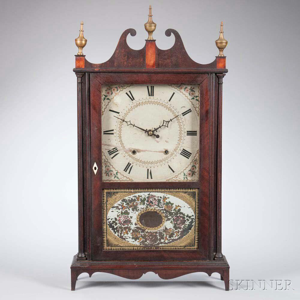 eli terry  u0026 son pillar and scroll shelf clock