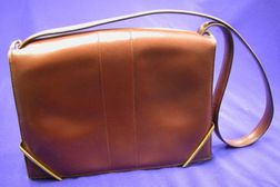 Vintage Burgundy Leather Handbag, Hermes