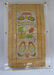 Northwest Coast Painted Mat