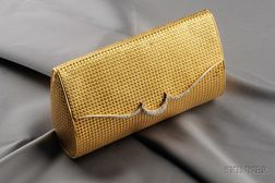 18kt Gold and Diamond Handbag