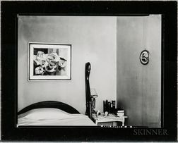 Walker Evans (American, 1903-1975)       Bedroom Interior, Probably New York