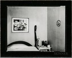 Walker Evans (American, 1903-1975)       Bedroom Interior, Probably New York