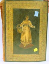 Italian Marquetry and Micromosaic Wooden Folio Cover.