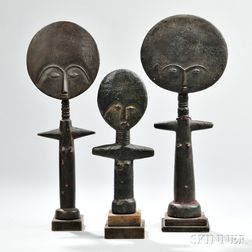 Three Ashanti Female Fertility Dolls