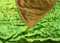 Green and Brown Mohair Carriage Blanket.