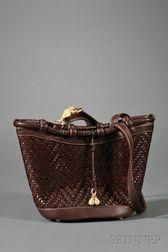 Brown Leather Handbag, Kieselstein-Cord