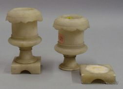 Pair of Small Alabaster Urns