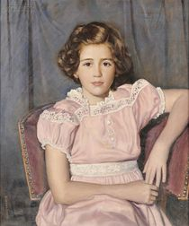 Walter Sherwood (American, 1874-1952)      Girl in Pink.