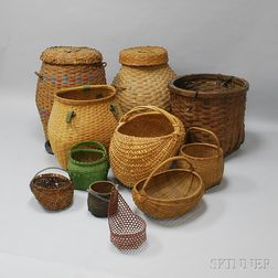 Eleven Woven Baskets