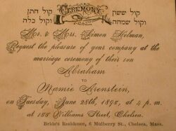 (American-Judaica) Six Social Invitations and Business Cards