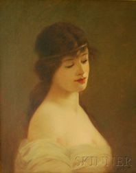 Horace P. Giles (American, 1850-c. 1930s)      Portrait of a Young Woman.