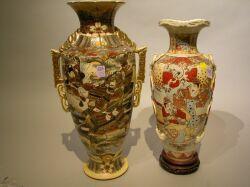 Two Large Satsuma Vases.