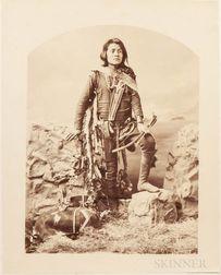 Bell, Charles Milton (1848-1893) Ten Large Albumen Photographs of Diné/Navajo People.
