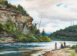Ogden Minton Pleissner (American, 1905-1983)      High Cliff at