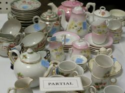 Several Child's China Tea Sets