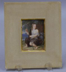 Unframed Classical Image on Ivory