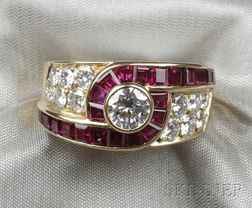 18kt Gold, Ruby, and Diamond Ring, Van Cleef & Arpels, France