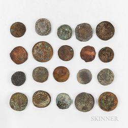 Twenty Mostly Roman Bronze Coins