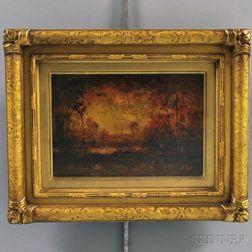 Henry Hammond Ahl (American, 1869-1953)      Autumn Sunset.