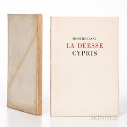 Montherlant, Henry de (1895-1972) and Laure Albin-Guillot (1879-1962) La Deesse Cypris, Douze Etudes de Nus par Laure Albin-Guillot.