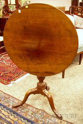 Chippendale Mahogany Tilt-top Tea Table