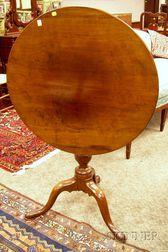 Chippendale Mahogany Tilt-top Tea Table
