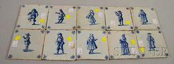 Ten Dutch Delft Tiles